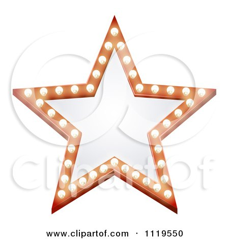 Clipart Of An Illuminated Star Sign - Royalty Free Vector Illustration by AtStockIllustration