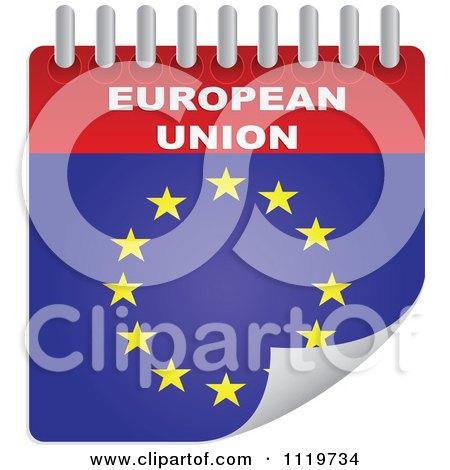 Clipart Of A European Union Calendar - Royalty Free Vector Illustration by Andrei Marincas