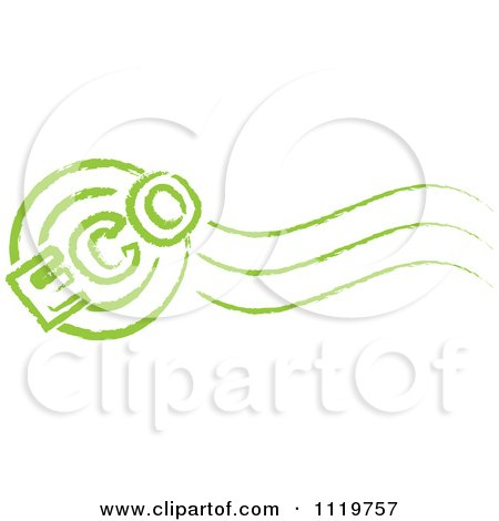 Clipart Of A Green Eco Postmark Stamp - Royalty Free Vector Illustration by Andrei Marincas