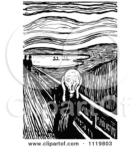 Royalty-Free (RF) The Scream Clipart, Illustrations, Vector ...