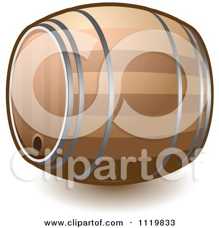 Cartoon Of A Wine Or Beer Barrel Keg - Royalty Free Vector Clipart by Leo Blanchette
