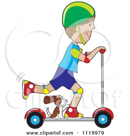 Dog Riding Moped Cartoon Free