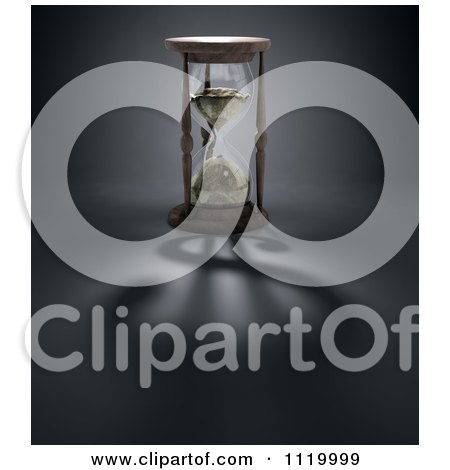 Clipart Of A 3d Hourglass With A Dollar Shadow - Royalty Free CGI Illustration by Mopic