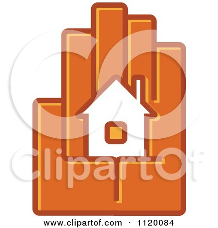 Clipart Of A House In The Palm Of A Hand 2 - Royalty Free Vector Illustration by Vector Tradition SM