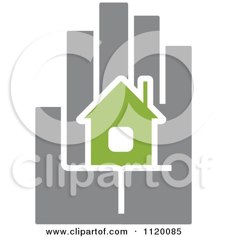 Clipart Of A House In The Palm Of A Hand 3 - Royalty Free Vector Illustration by Vector Tradition SM