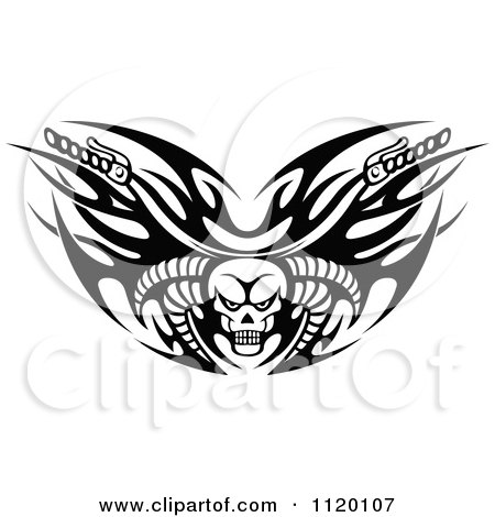Flaming Skull Coloring Pages http://www.clipartof.com/portfolio/seamartini/illustration/black-and-white-tribal-flaming-skull-motorcycle-biker-handlebars-1120107.html