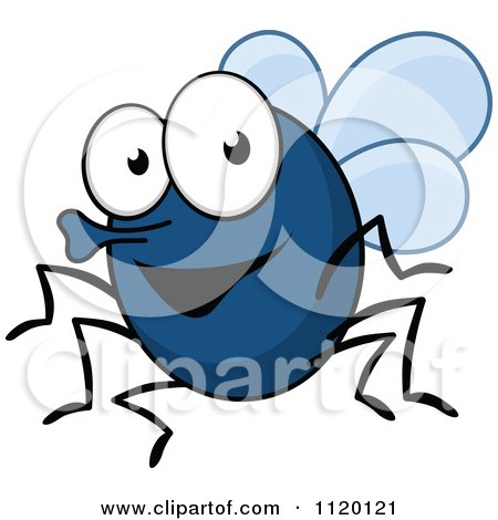 Cartoon Of A Happy Fly - Royalty Free Vector Clipart by Vector Tradition SM
