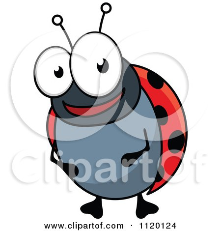 Cartoon Of A Happy Ladybug - Royalty Free Vector Clipart by Vector Tradition SM