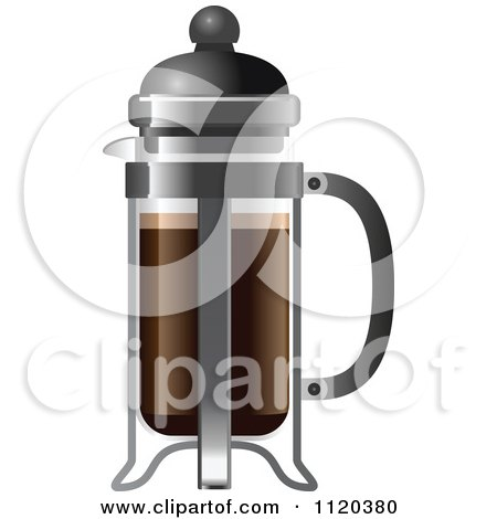 Leo French Press Coffee Maker : Royalty Free Beverage Illustrations by Leo Blanchette Page 1