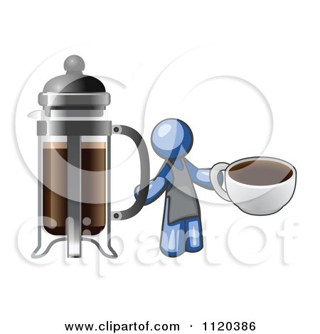 Leo French Press Coffee Maker : Royalty-Free (RF) Blue Man Clipart, Illustrations, Vector Graphics #10