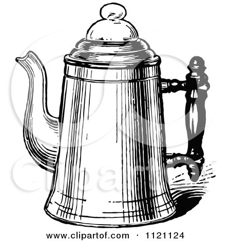 Coffee Pot Drawing White Metal Coffee Pot 2