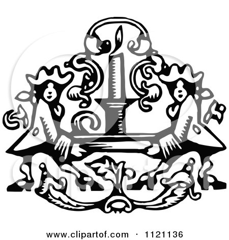 Clipart Of Retro Vintage Black And White Soldiers Holding Up A Candle - Royalty Free Vector Illustration by Prawny Vintage