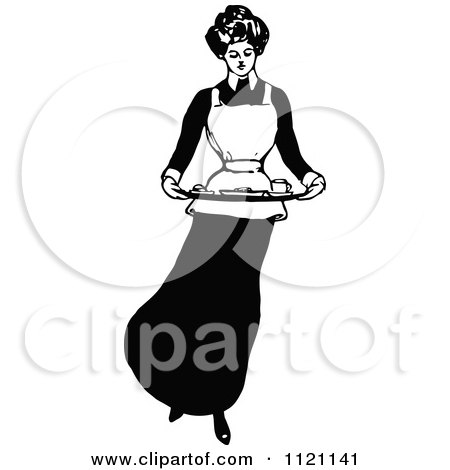 Butler And Maid Clipart