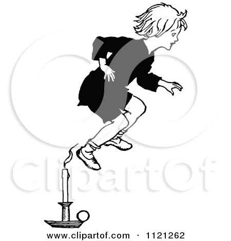 Jack be nimble clipart