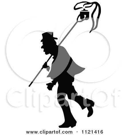 Clipart Of A Retro Vintage Black And White Campaigner 10 - Royalty Free Vector Illustration by Prawny Vintage