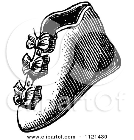 Retro Vintage Black And White Baby Boot Shoe Posters, Art Prints
