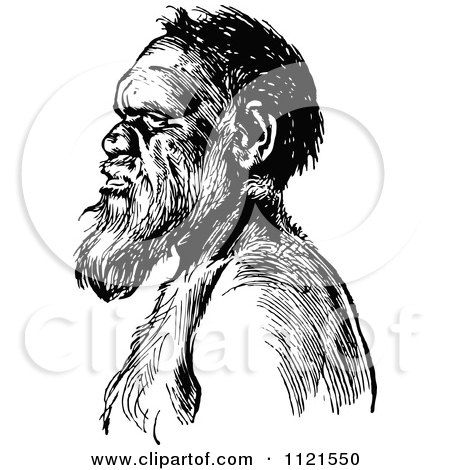 Native American Indian Man Drawing