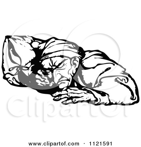 Clipart Ebenezer Scrooge Being Visited By The Ghost Of Christmas ...