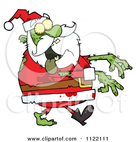 Cartoon Of A Zombie Santa - Royalty Free Vector Clipart by Hit Toon