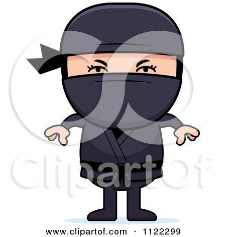 Cartoon Of A Ninja Boy - Royalty Free Vector Clipart by Cory Thoman