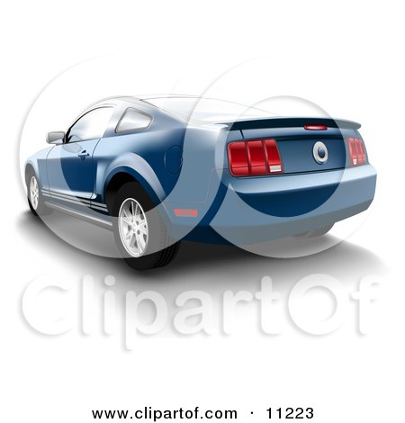 Vista Blue Ford Mustang Sports Car Posters, Art Prints