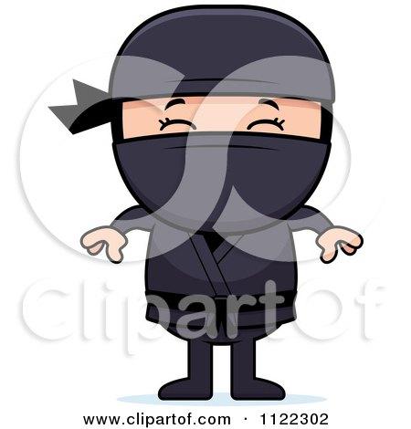 Cartoon Of A Happy Ninja Boy - Royalty Free Vector Clipart by Cory Thoman