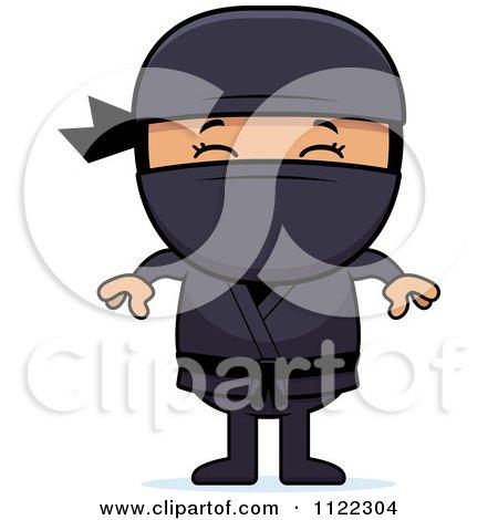 Cartoon Of A Happy Asian Ninja Boy - Royalty Free Vector Clipart by Cory Thoman