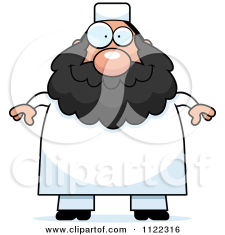 Cartoon Of A Chubby Muslim Man - Royalty Free Vector Clipart by Cory Thoman