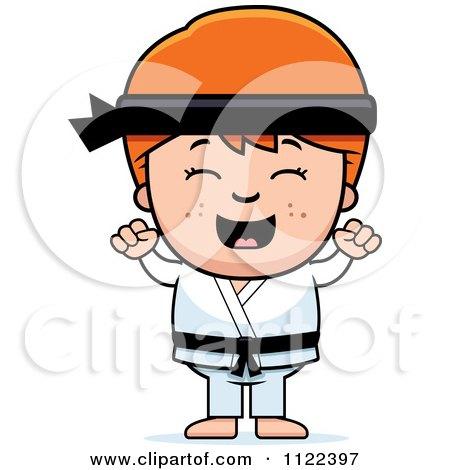 Diverse Happy Karate Kids