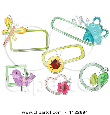 Cartoon Of Nature Tags - Royalty Free Vector Clipart by BNP Design Studio