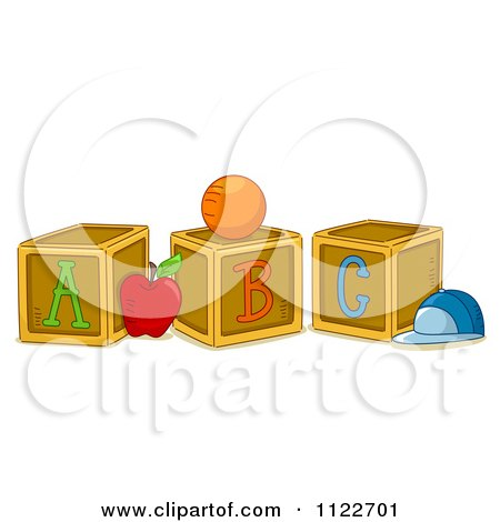 Cartoon Of Alphabet Letter Abc Blocks A B And C - Royalty Free Vector Clipart by BNP Design Studio