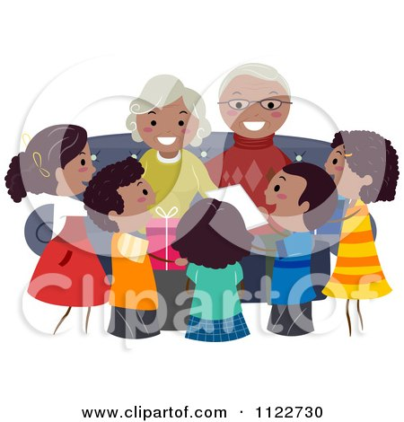 Black Grandparents Day Clip Art Royalty-Free (RF) Blac...