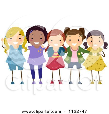 Royalty-Free (RF) Best Friends Forever Clipart, Illustrations, Vector ... Best Friends Holding Hands Girls
