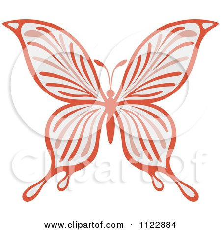Clipart Of A Pastel Butterfly - Royalty Free Vector Illustration by Vector Tradition SM