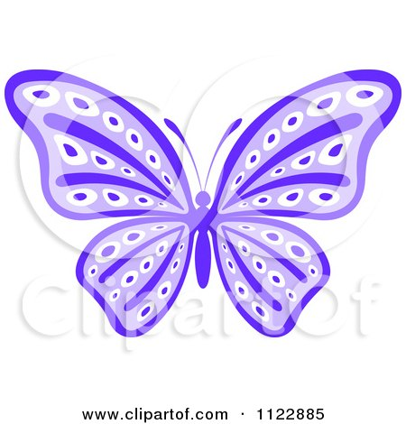 Clipart Of A Purple Butterfly - Royalty Free Vector Illustration by Vector Tradition SM
