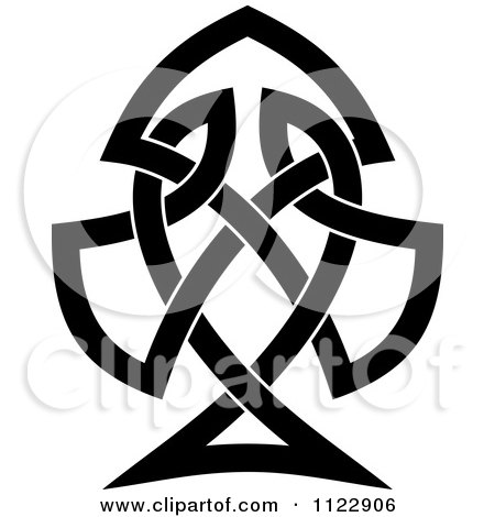 Clipart Of A Black Spade Celtic Knot Poker Playing Card Symbol - Royalty Free Vector Illustration by Vector Tradition SM