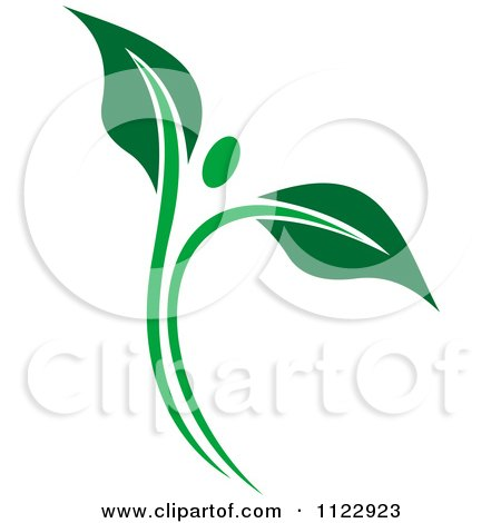 Clipart Of A Green Leaf Person 1 - Royalty Free Vector Illustration by Vector Tradition SM