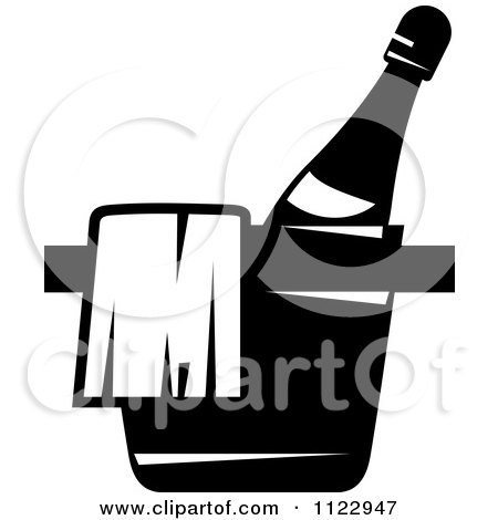 Black And White Place Chilling Bottle Of Wine Posters, Art Prints