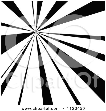 Clipart Of A Black And White Sunbeam Ray Background 4 - Royalty Free Vector Illustration by dero