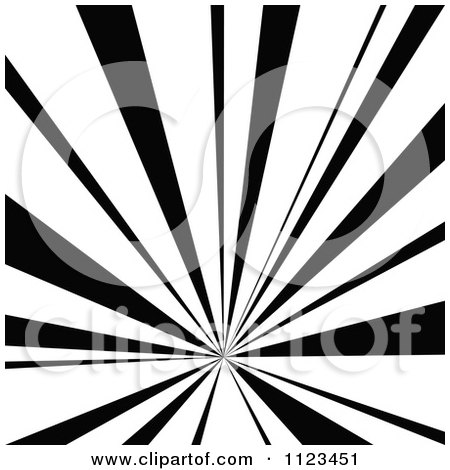 Clipart Of A Black And White Sunbeam Ray Background 3 - Royalty Free Vector Illustration by dero