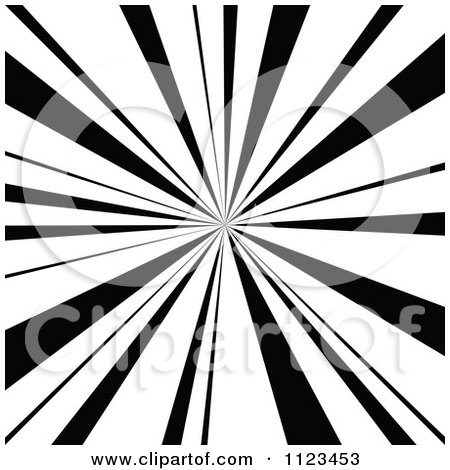 Clipart Of A Black And White Sunbeam Ray Background 1 - Royalty Free Vector Illustration by dero