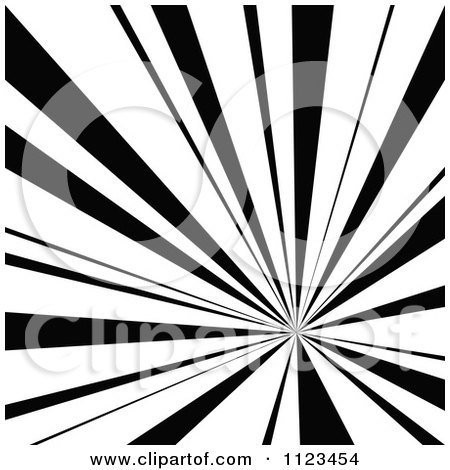 Clipart Of A Black And White Sunbeam Ray Background 2 - Royalty Free Vector Illustration by dero