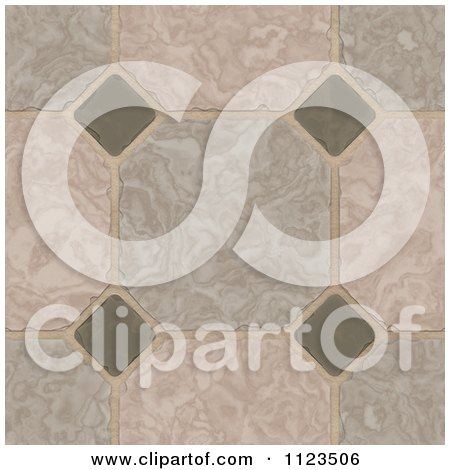 Clipart Of A Seamless Tile Floor Texture Background Pattern - Royalty Free CGI Illustration by Ralf61