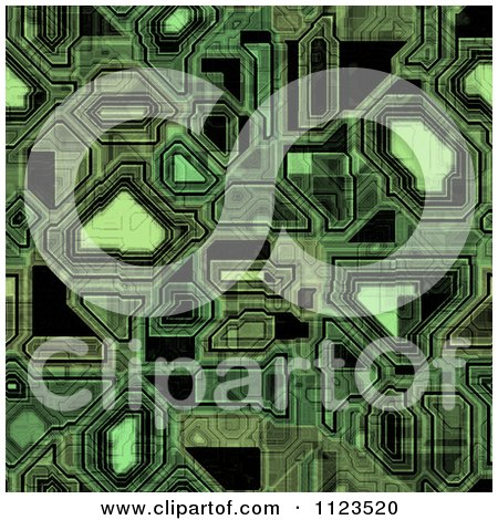 Clipart Of A Seamless Circuitry Texture Background Pattern - Royalty Free CGI Illustration by Ralf61