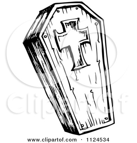 Royalty Free Rf Coffin Clipart Illustrations Vector