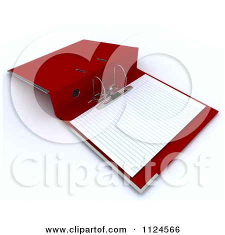 Clipart Of A 3d Red Lever Arch Binder With Ruled Paper ...Binder Clip Dinosaur