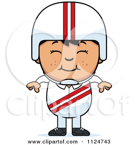 Cartoon Of A Happy Asian Daredevil Stunt Boy - Royalty Free Vector Clipart by Cory Thoman
