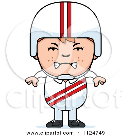 Cartoon Of An Angry Red Haired Daredevil Stunt Boy - Royalty Free Vector Clipart by Cory Thoman