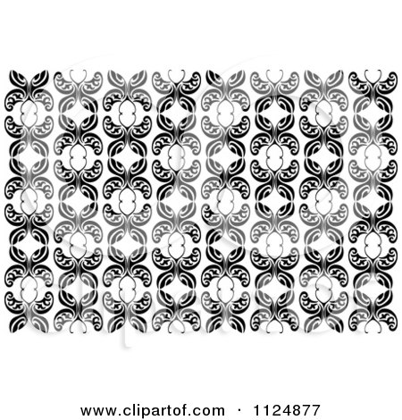 Clipart Of A Black And White Butterfly Seamless Background Pattern 5 - Royalty Free Vector Illustration by Vector Tradition SM