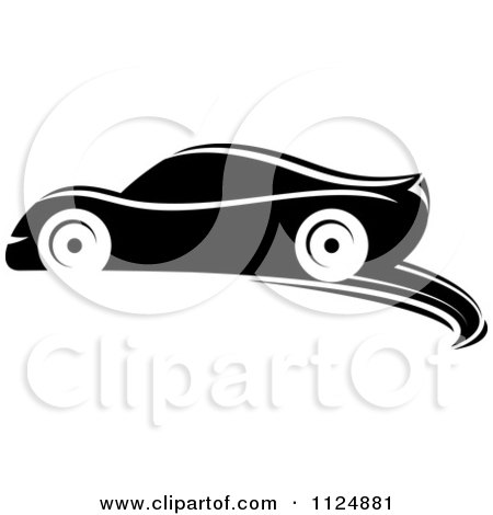 Royalty-Free (RF) Black And White Sports Cars Clipart ...